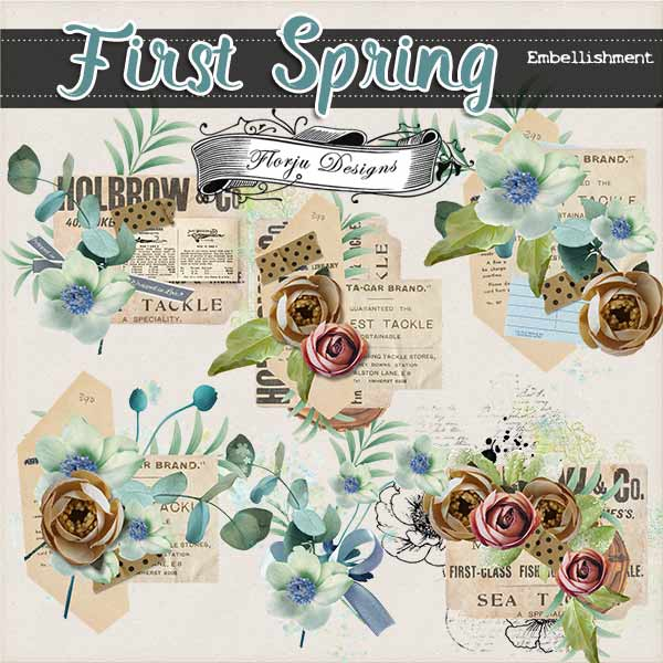 First Spring { Embellishments PU } by Florju Designs