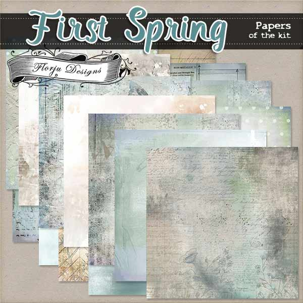 First Spring {  Papers of the kit PU } by Florju Designs