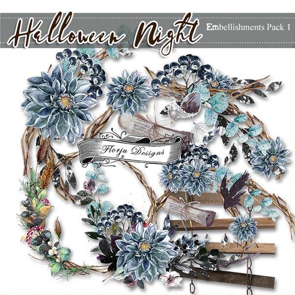 Halloween Night [ Embellishments Pack1 PU ] by Florju Designs