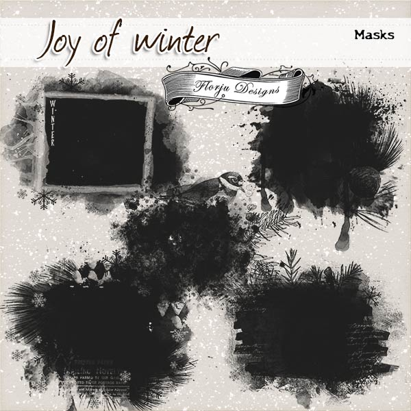 Joy Of Winter {Mask PU } by Florju Designs
