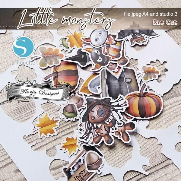 Little Monsters [ Die Cut PU ] by Florju Designs