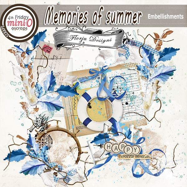 Memories Of Summer [Embellishments PU ] by Florju Designs