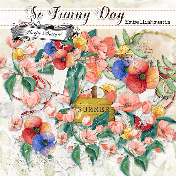 So funny Day { Embellishments PU } by Florju designs