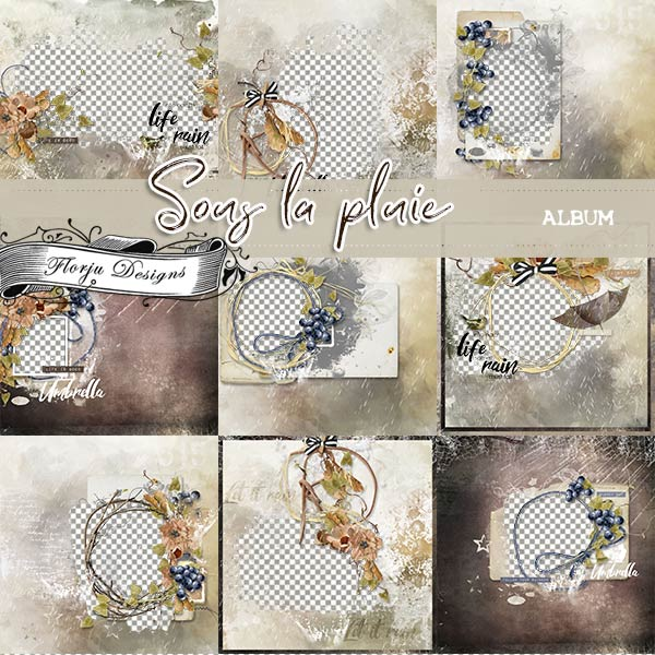 Sous La Pluie [ Album PU ] by Florju Designs