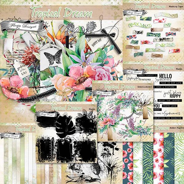Tropical Dream [ Bundle PU ] by Florju Designs