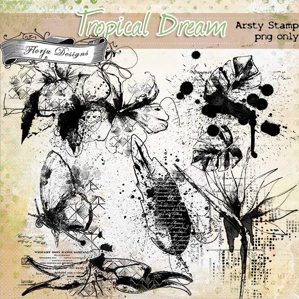 Tropical Dream [ Artsy Stamp PU ] by Florju Designs