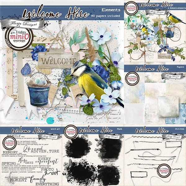 Welcome Here [Bundle PU ] by Florju Designs