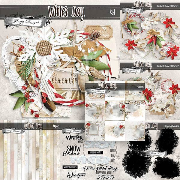 Winter Day [ Bundle PU ] by Florju Designs