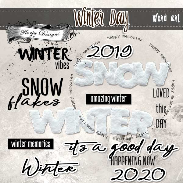 Winter Day [ English Word art PU ] by Florju Designs