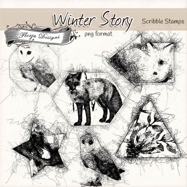 Winter Story [ Stamps PU ] by Florju Designs