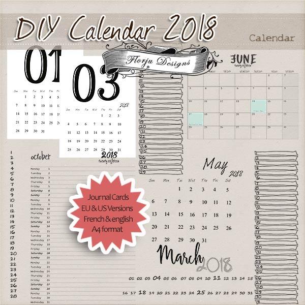 Diy Calendar On Word : Calendar diy grid pu by florju designs