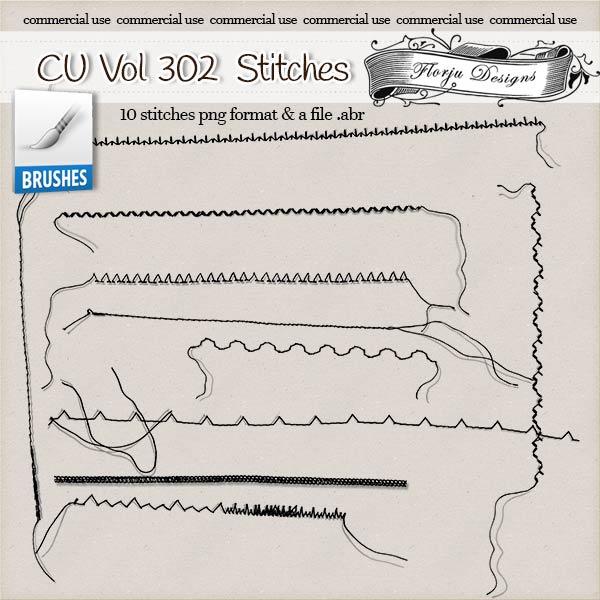 CU vol 302 Stitch Brush { Florju Designs }