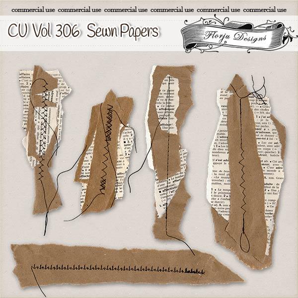 CU vol 306 Sewn Papers { Florju Designs }