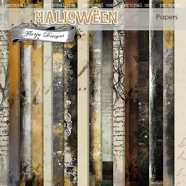 Halloween Papers PU by Florju Designs