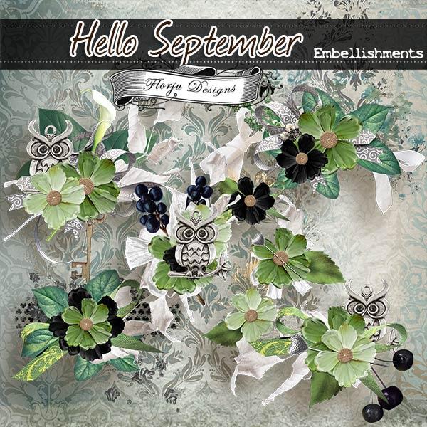 Hello September { Embellishments PU } by Florju Designs