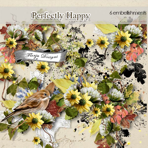 Perfectly Happy [ Embellishments PU ] by Florju Designs
