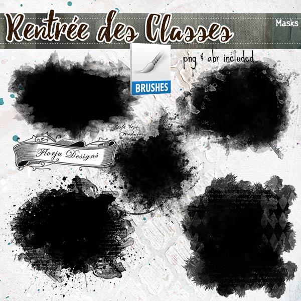 Rentrée des Classes  { Clipping mask PU } by Florju Designs