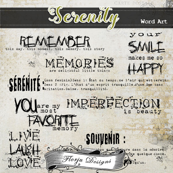 Serenity { Word Art PU } by Florju Designs