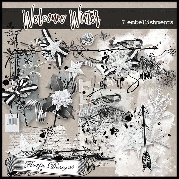 Welcome Winter { Embellishments } by Florju Designs