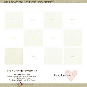 Mini-Scrapbook Kit {living inspired} BONUS No. 2