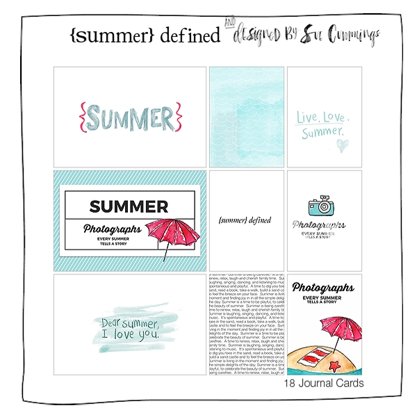Summer Defined {Journal Cards}