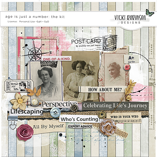Age Is Just A Number Page Kit by Vicki Robinson