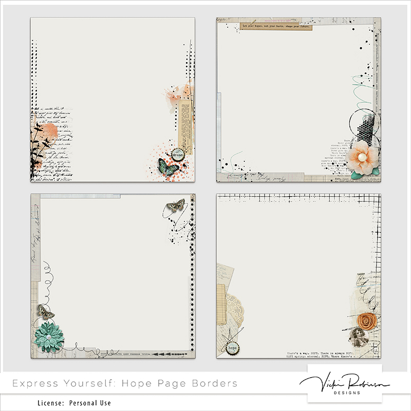 Express Yourself: Hope Page Borders