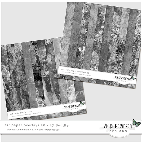 Art Paper Overlays 26 and 27 Bundle by Vicki Robinson