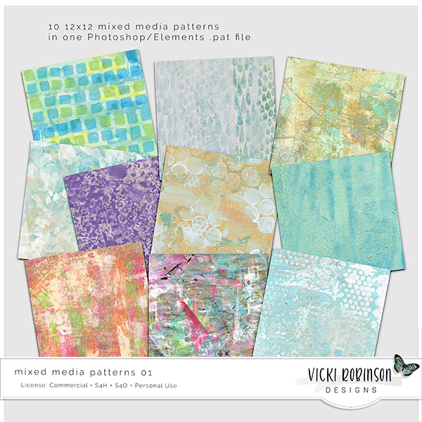 Mixed Media Patterns 01