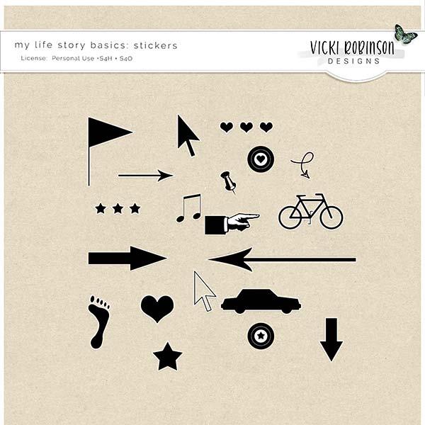 My Life Story Basics Stickers by Vicki Robinson