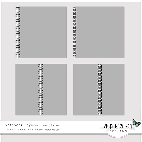 Notebook Layered Templates by Vicki Robinson