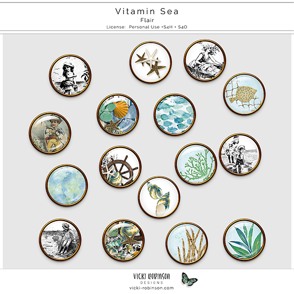 Vitamin Sea Flair by Vicki Robinson