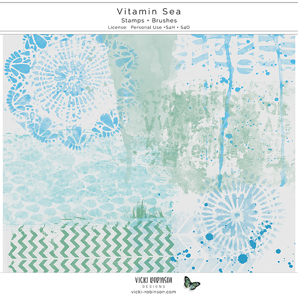 Vitamin Sea Stamps and Brushes by Vicki Robinson
