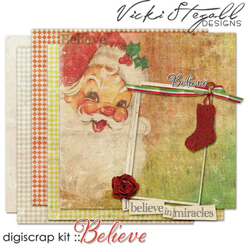 Scrapbook kit Believe from Vicki Stegall