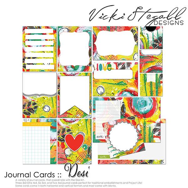 Desi Pocket Journal Cards by Vicki Stegall