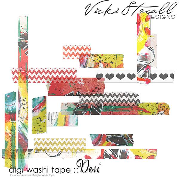 Desi Washi Tape by Vicki Stegall