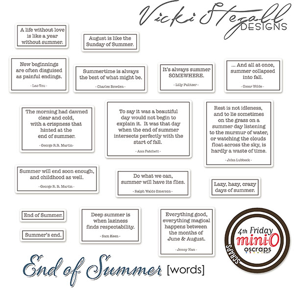 End Of Summer [Words]