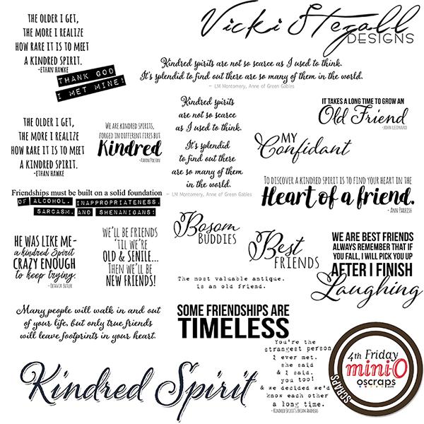 Kindred Spirits WordArt
