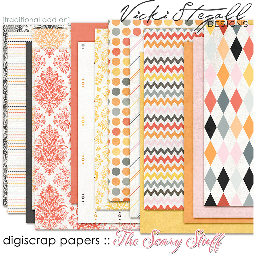 The Scary Stuff Traditional Scrapbook Papers