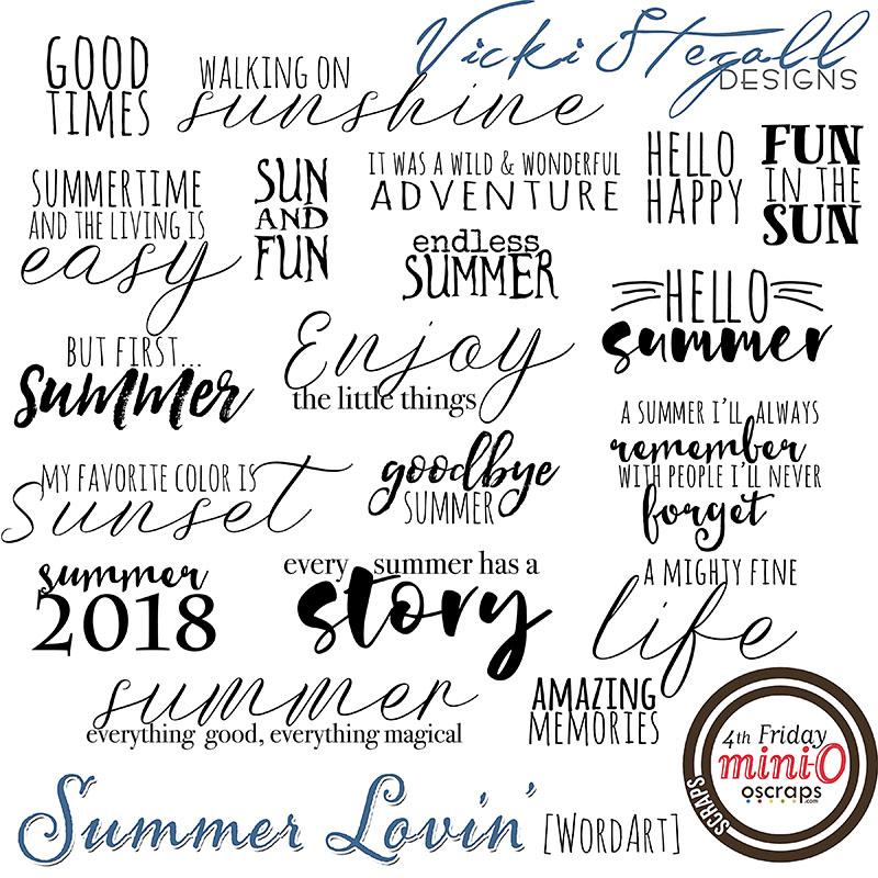 Summer Lovin (WordArt)