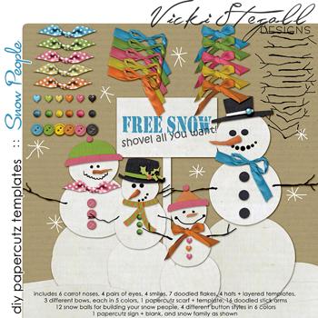 diy papercutz templates :: Snow People