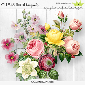 CU 943 FLORAL bouquets