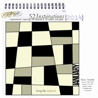 52 Inspirations 2014 - Bonus 1 - 365 Template - January