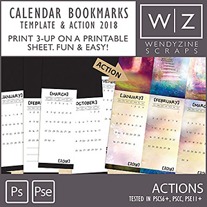 ACTION: 2018 Calendar Bookmarks