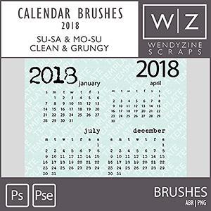 TEMPLATES: 2018 Calendar Brushes