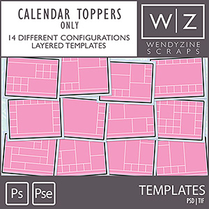 TEMPLATES: Calendar Toppers Only