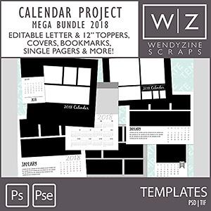 TEMPLATES: 2018 Calendar Project Mega Bundle