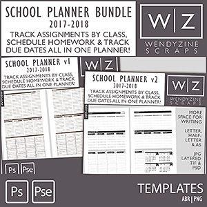 BUNDLE: 2018 School Planner Inserts