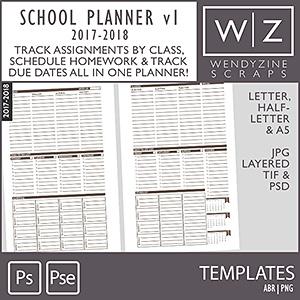 TEMPLATES: 2018 School Planner v1