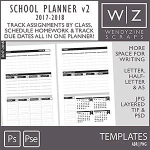 TEMPLATES: 2018 School Planner v2